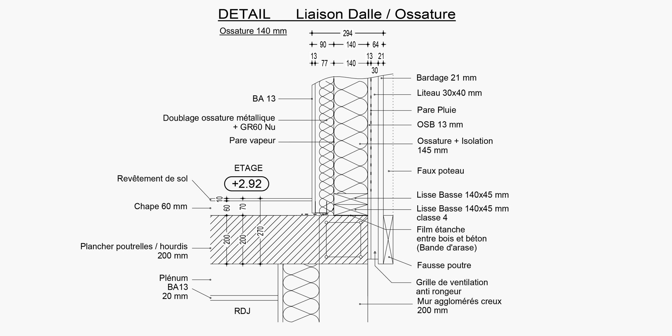 Plan pour extension maison ossature bois moderne, traditionnelle, ancienne - Savoie Plan