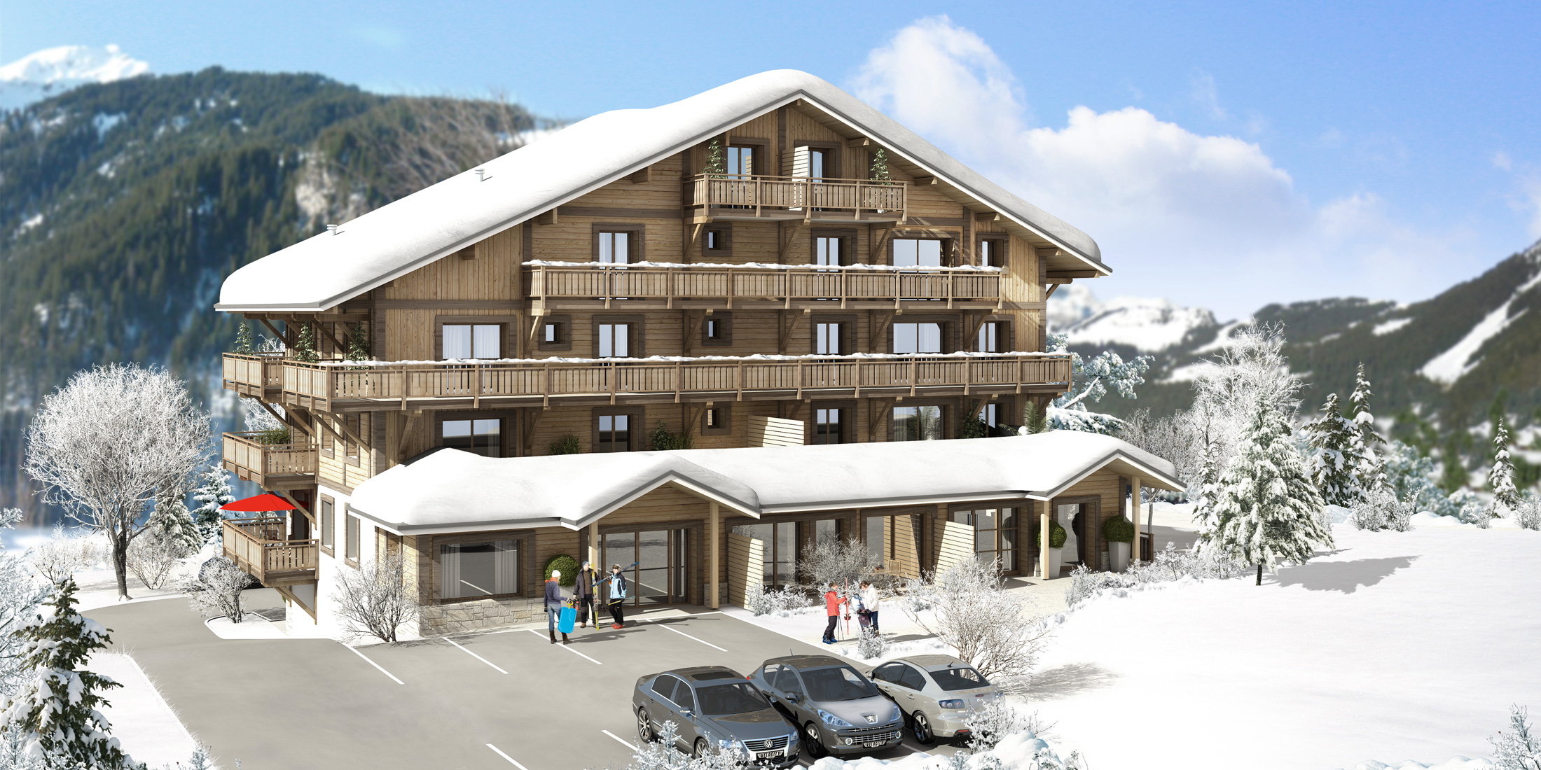 Plan pour construction chalet bois, maison traditionnelle - Savoie Plan
