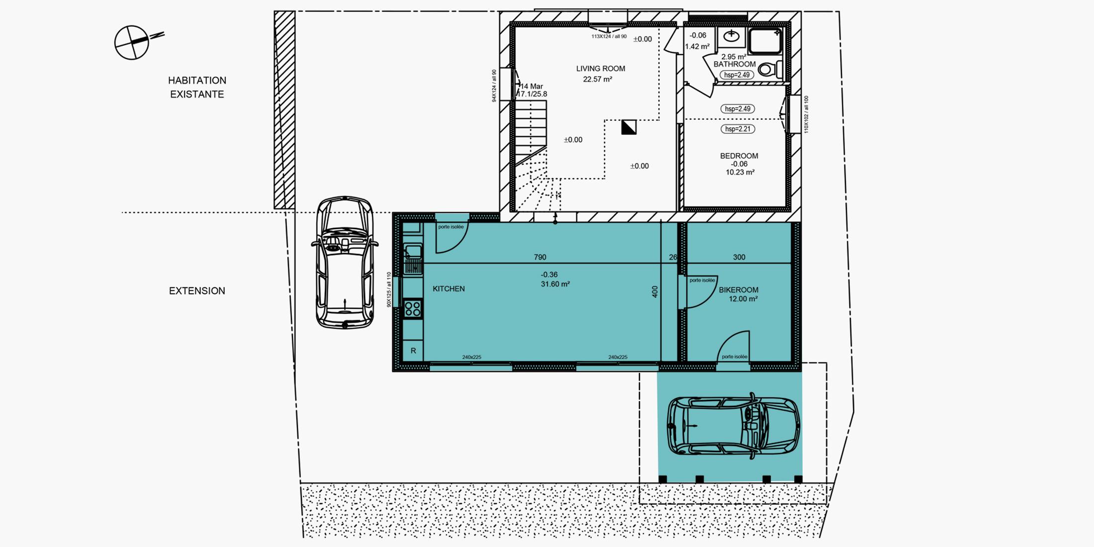 Plan pour construction abri voiture  Annecy, Chambéry, Aix-les-Bains, Rumilly - Savoie Plan
